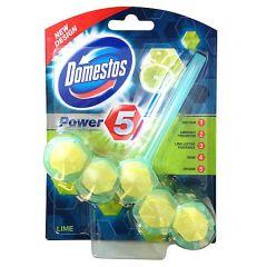 Odorizant solid cu suport pentru toaleta, 55g, Power 5 Lime Domestos