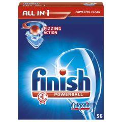 Tablete pentru masina de spalat vase, 56buc, Finish Calgonit Powerball All in 1