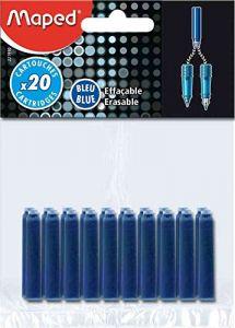 Patroane scurte, cerneala albastra, 20buc/set, Maped