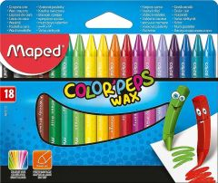 Creioane colorate cerate, 18culori/set, Color Peps Wax Maped