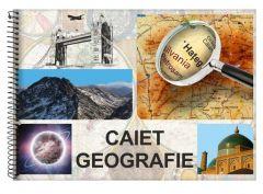 Caiet cu spira A4, 24file, geografie, Daco