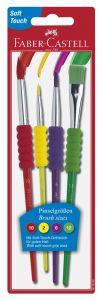 Pensule, par sintetic, asortate, 4buc/set, 481600 Faber Castell