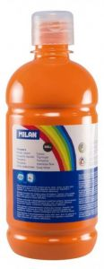 Tempera pe culoare, tub 500ml, portocaliu, Milan
