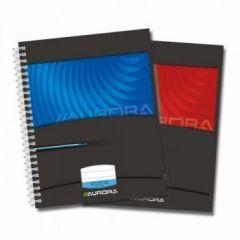 Caiet cu spira A5, 50file, dictando, coperta carton color, Aurora Mano