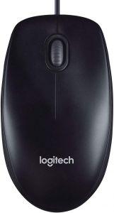 Mouse optic, gri, 3 butoane si 1 scroll, M90 Logitech