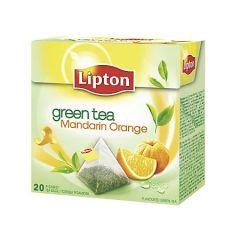 Ceai verde cu aroma de mandarina, 20plicuri/cutie, Lipton Mandarin Orange Pyramid