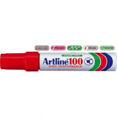 Permanent marker rosu, varf tesit 7,5-12 mm, Artline 100