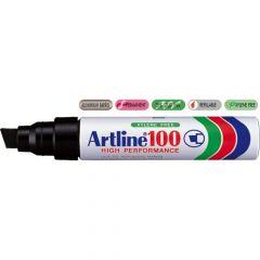 Permanent marker negru, varf tesit 7,5-12 mm, Artline 100