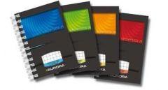 Caiet cu spira A7, 50file, matematica, coperta carton lucios, Aurora Mano
