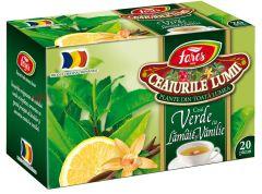 Ceai Fares verde cu lamaie si vanilie, 20plicuri/cutie