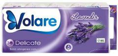 Hartie igienica parfumata, 3 straturi, 10role/set, Deluxe Relaxing Lavender Volare
