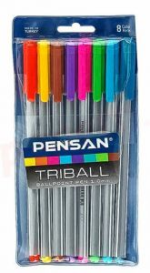 Pix semigel cu capac, 8culori/set, varf 1,0mm, Pensan Triball