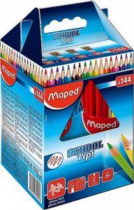 Creioane colorate 144buc/set, Color Peps Maped