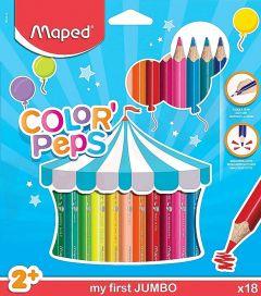 Creioane colorate 18culori/set, Color Peps My First Jumbo Maped