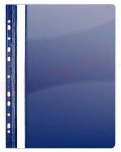 Dosar plastic cu sina si multiperforatii, albastru inchis Donau