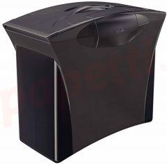 Suport plastic cu capac, pentru dosare suspendabile, negru Vivida Europost Esselte