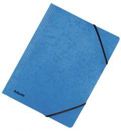 Mapa din carton cu elastic A4, albastru, Rainbow Esselte