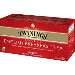 Ceai Twinings English Breakfast Tea, negru, 25plicuri/cutie