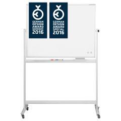 Whiteboard magnetic, 120cm x 220cm, mobil, rotativ, Magnetoplan