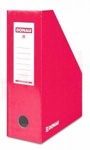 Suport vertical carton laminat, rosu, latime 10cm, Donau