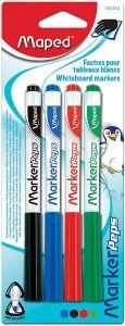 Whiteboard marker 4 buc/set (albastru, negru, rosu, verde), varf 3,0 mm, Marker Peps Maped