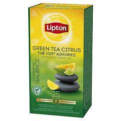 Ceai verde cu aroma de citrice, 25plicuri/cutie, Lipton Green Tea Citrus