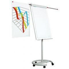 Flipchart magnetic cu brate si rotile, 105cm x 70cm Smit Vario