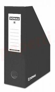 Suport vertical carton laminat, negru, latime 10cm, Donau
