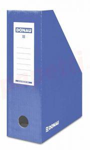 Suport vertical carton laminat, albastru, latime 10cm, Donau