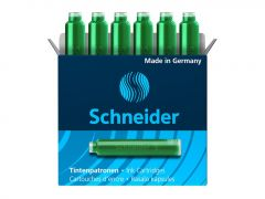 Patroane scurte, cerneala verde, 6buc/set, Schneider