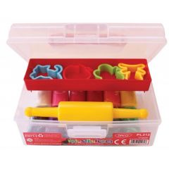 Plastilina in cutie, 12 culori/set cu accesorii, PL312, 375g, Daco