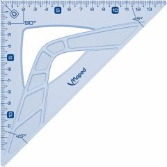 Echer plastic transparent, unghi 45 grade, 21cm, Maped