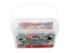 Plastilina in cutie, 18 culori normale + 6 culori neon, cu accesorii, 500g, Daco