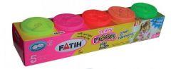 Plastilina usoara, 5 culori neon, Modeling Dough Fatih
