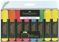 Textmarker 8 culori/set, 1548 Faber Castell