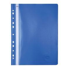 Dosar plastic cu sina si multiperforatii, albastru, Noki