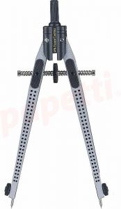 Compas Quick-Set Grip 2001, negru, Faber Castell-FC174434