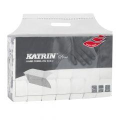 Servetele in V pentru dispenser, albe, 22x23cm, 2 straturi, 200 foi/set Plus Katrin