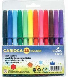 Carioca 12 culori/set Ecada