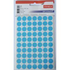Etichete autoadezive rotunde, diam.13mm, 350buc/set, 5coli/set, albastru, Tanex