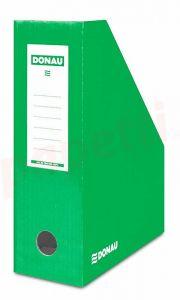 Suport vertical carton laminat, verde, latime 10cm, Donau