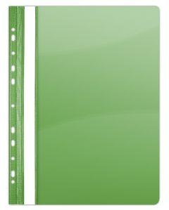 Dosar plastic cu sina si multiperforatii, verde Donau