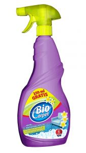 Detergent cu pulverizator pentru toate tipurile de covoare, mochete, tapiterii, 750ml, Biocarpet