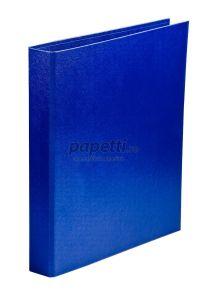 Caiet mecanic A4, 4 inele, albastru, diametru inel 25mm, coperta carton plastifiat, Aurora