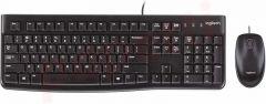 Kit tastatura cu fir si mouse optic cu fir, MK120 Logitech