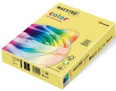 Hartie copiator A4, 80g, colorata in masa galben pal (pastel yellow), Maestro
