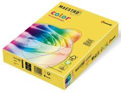 Hartie copiator A4, 80g, colorata in masa galben (canary yellow), Maestro