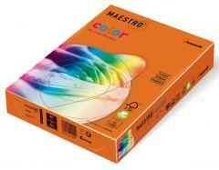 Hartie copiator A4, 80g, colorata in masa portocaliu (oranges), Maestro