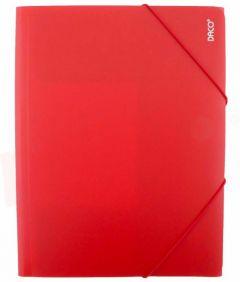 Mapa de plastic cu elastic A4, rosu, Daco