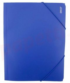 Mapa de plastic cu elastic A4, albastru, Daco